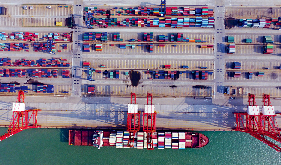 A central government campaign to consolidate port operations has gained steam since August, when 18 provincial-level regions with ports were ordered to ramp up their efforts. Above, the port in Lianyungang, Jiangsu province, is seen on June 24. Photo: Visual China