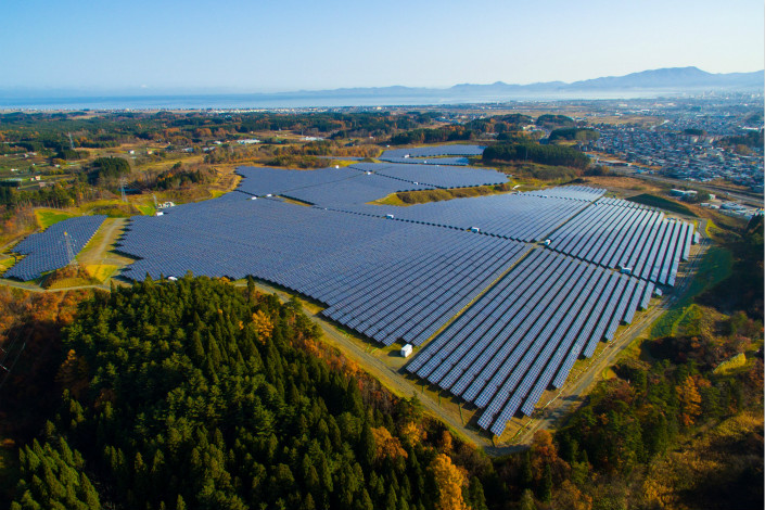 Equis Energy's portfolio includes operational and under-construction plants with a combined 1.9 gigawatts of annual capacity. Above, Equis Energy's solar plant in Aomori prefecture, Japan, is seen in this undated handout photo. Photo: Visual China