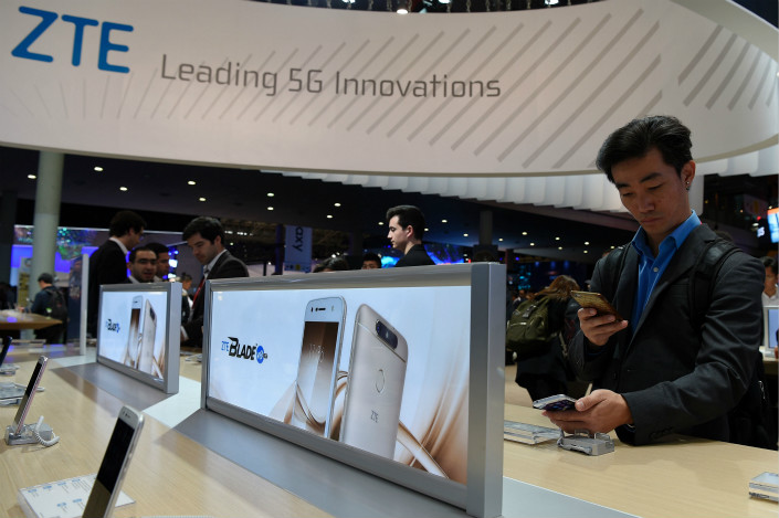 ZTE's application to delist ZTEsoft Technology Co. Ltd. took place just over a year after it listed its software unit on the over-the-counter board as part of a broader move to spin off its noncore divisions to focus on its central businesses. Photo: Visual China