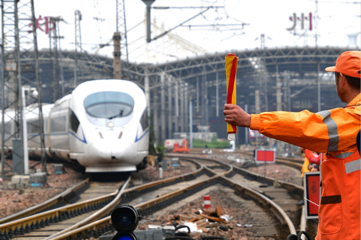 China Railway Corp. (CRC) is trying to gain control over a public-private rail project in which CRC, the operator of the nation's national rail network, is a minority stakeholder, sources say. Photo: Visual China