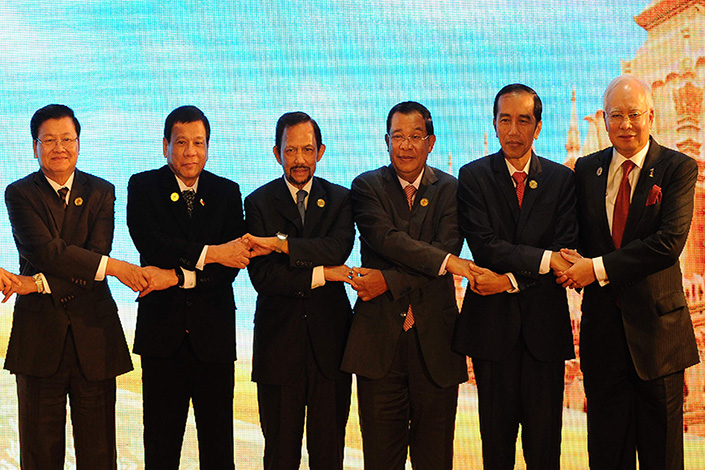 ASEAN leaders gather in September 2016 in Vientiane, Laos, to commemorate the 25th anniversary of ASEAN-China Dialogue Relations. Photo: Visual China