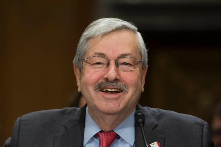 "U.S. Ambassador to China Terry Branstad (pictured) told reporters that U.S. President Donald Trump would be pushing for American companies to have greater access to Chinese markets. ""What we really want is for American companies to have the same access here in China as Chinese companies have in the United States,"" he said. Photo: Visual China"