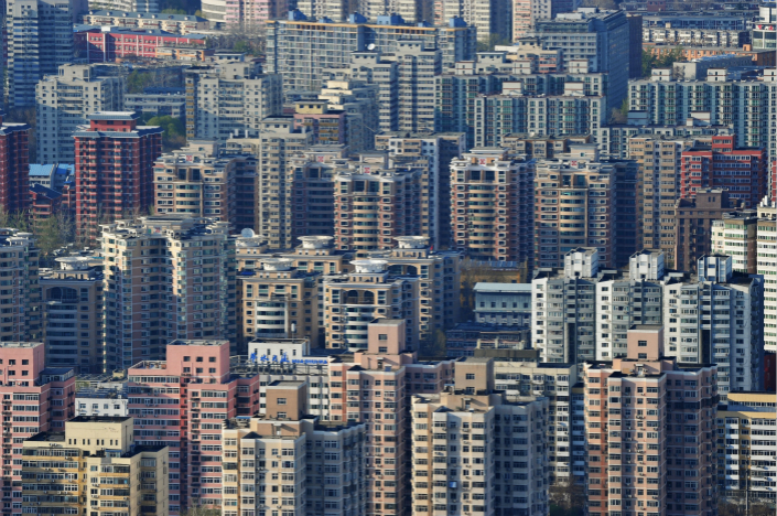 In 18 of 70 major Chinese cities, including Beijing (pictured), new home prices edged down in September from the previous month as government controls continued to put pressure on prices. Photo: Visual China
