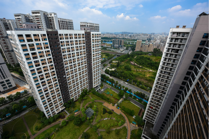 The number of rental homes advertised on a single online rental platform has grown to nearly double the 2,800 residential properties sold in Shenzhen in October. The situation shows how China's real estate developers are shifting their business model from selling property to leasing property. Photo: Visual China