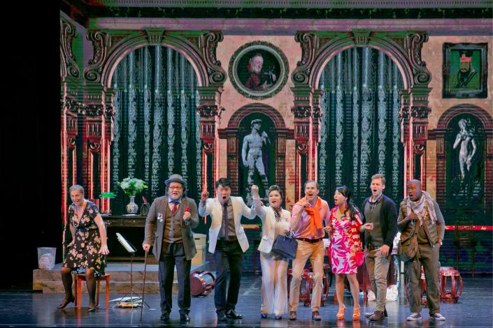 A performance of Giacomo Puccini's comic opera