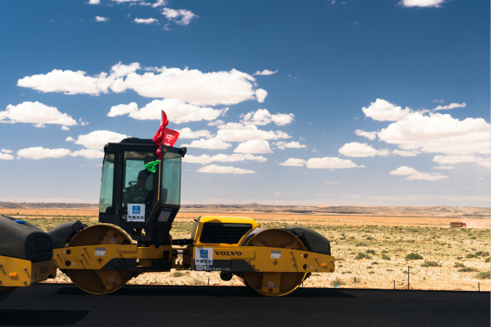 China's Ministry of Finance is concerned that local governments have used public-private partnerships as a way to circumvent central government efforts to control the growth in off-balance sheet local government debt. Above, a highway is under construction in Inner Mongolia in July 2016. Photo: Visual China