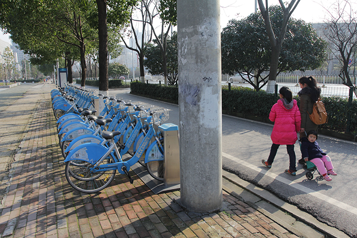 Wuhan Huantou says its has operated 40,000 bikes and provided 60 million rides since taking over Wuhan's city government-backed bike-rental service in 2014. Photo: IC