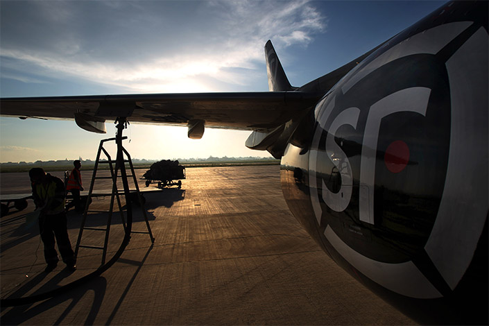 After beating out at least 25 bidders, SF Airlines — a subsidiary of Chinese courier company SF Express — became the new owner of the two jets, for which it spent over $48 million. Photo: Visual China