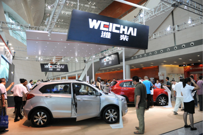 Weichai Power is a state-owned enterprise that specializes in diesel commercial vehicles. Its deal with Bosch, the world's biggest car parts provider, comes at a time when the Chinese government is increasingly tilting toward hydrogen fuel cell cars through its subsidy programs. Photo: Visual China