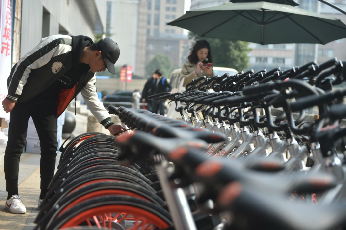 As of August, there were 530,400 shared bikes in the city of Guangzhou alone, amounting to one bike for every 9.69 people on average, according to a think tank. Photo: Visual China