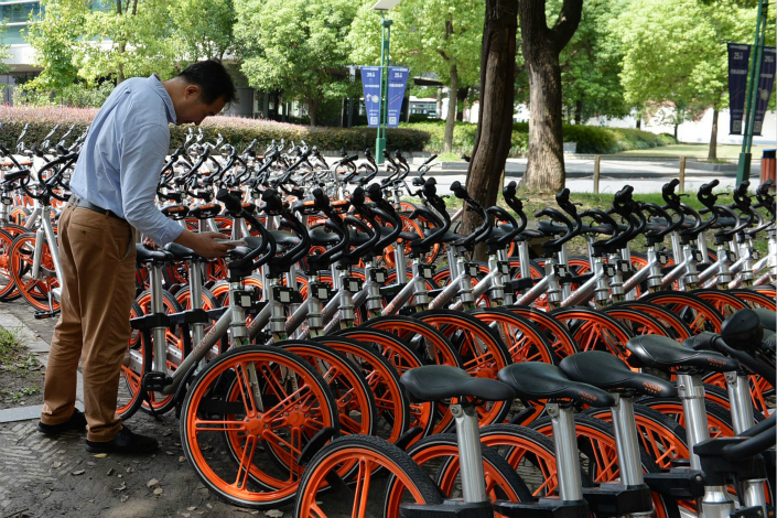 "Shared-bike giant Mobike, which called the report of deposit misuse ""erroneous,"" called for the bike-sharing industry to always put users' interests first. Photo: Visual China"