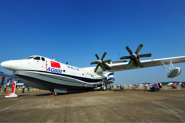 The AG600 is the latest aircraft China has developed domestically as the country seeks to grow its own aviation sector and reduce dependence on — and even challenge — foreign aircraft giants.  Photo: Visual China