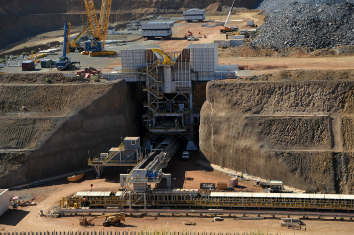 The dispute regards royalties which Citic was supposed to pay Clive Palmer for the Sino Iron project in Western Australia (pictured). The royalties were meant to be calculated based on an industry pricing system which no longer exists, so Citic argues this agreement is no longer legally enforceable. Photo: Visual China