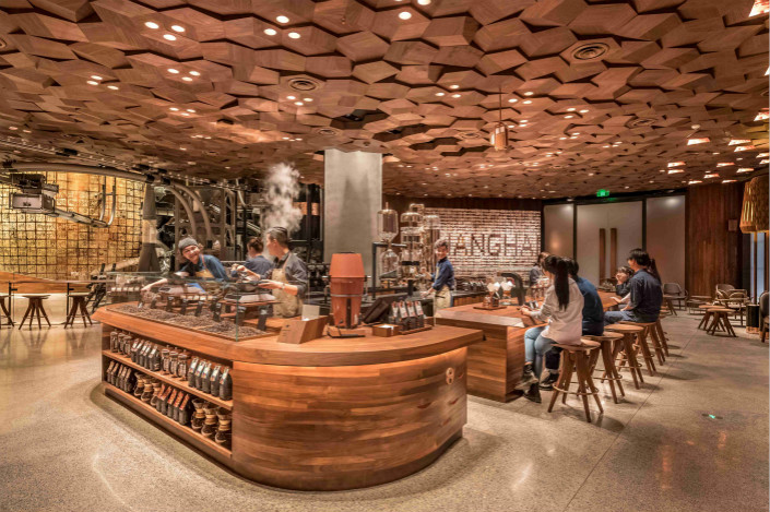 The two-story Starbucks Reserve Roastery in Shanghai covers 2,700 square meters, making it the single largest Starbucks in the world. Photo: Starbucks