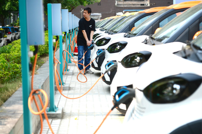 The tax waiver, rolled out in 2014 along with other state subsidies, have helped make China the world's largest electric vehicle market with more than 500, 000 units sold last year, almost half of global output. Photo: Visual China