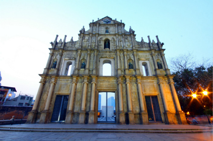 A spokesperson for the Macau government denied that the territory is a tax haven, saying the territory has been working with the EU and Organization for Economic Cooperation and Development countries to police cross-border tax evasion. Pictured are the Ruins of St. Paul, a Macau landmark. Photo: Visual China