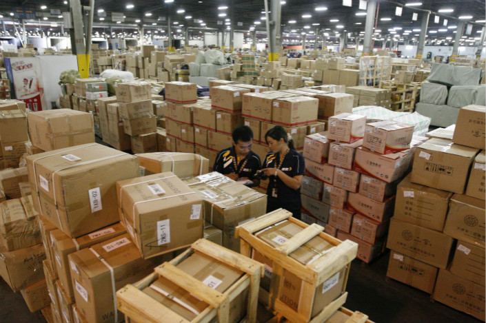 China's parcel delivery services have experienced explosive growth due to the country's e-commerce boom. In 2016, 30 billion packages were delivered in China — 23 for each of the country 1.3 billion people. Photo: IC