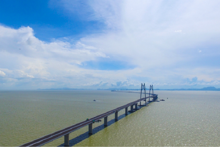 The operating costs of the bridge have been estimated at 2.2 billion yuan ($332 million) annually, and an average of 20.72 million trips is expected to be made across the bridge each year, according to the Guangdong Development Reform Commission. Photo: Visual China