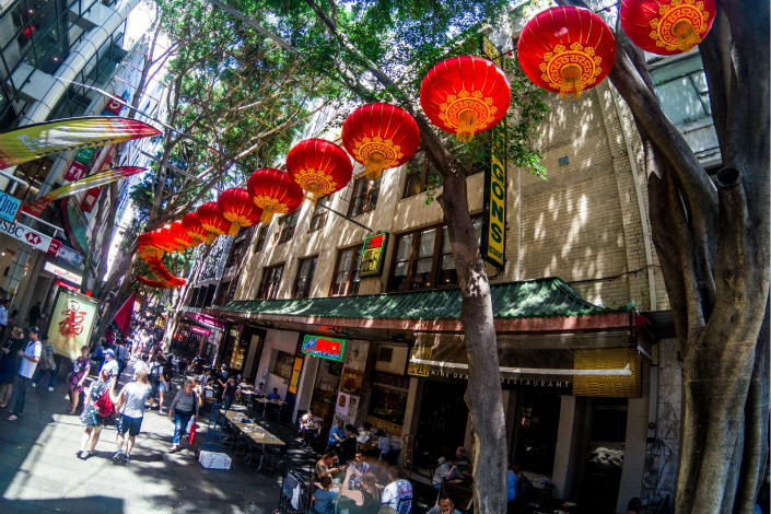 Australian media outlets have launched scathing attacks against the Chinese government over perceived meddling in Australian politics. Above, Lunar New Year is celebrated in Sydney on Jan. 28. Photo: Visual China