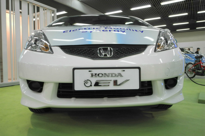 "Japanese automaker Honda says it will unveil an electric car model in China by next year — an SUV model produced with the company's China partner. The model will be specifically ""tailored for the Chinese market,"" the company said. Photo: IC"