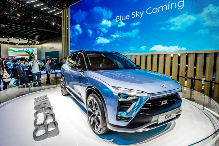 The Nio ES8 electric SUV (above) is expected to hit the Chinese market in the first half of 2018, the company announced. Photo: Visual China