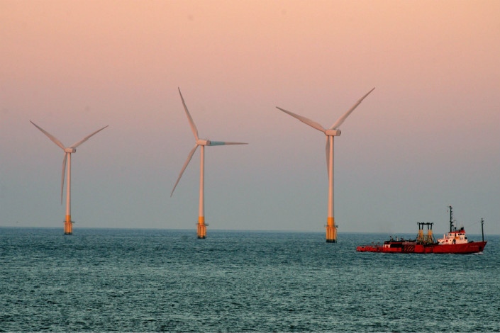 The Norfolk wind farm (pictured) deal still depends on approval from Chinese and German regulators, and may also need the OK of South Korea's competition regulator, Statkraft said in its statement. Photo: Visual China