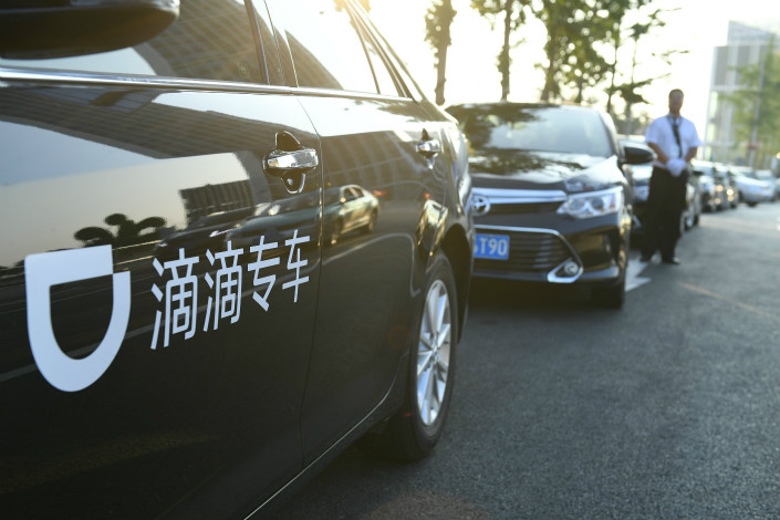 In Taiwan, Chinese ride-hailing company Didi Chuxing has awarded local company Ledi Technology Co. the exclusive rights to promote and use the Didi brand and platform, and is now recruiting drivers. Photo: Visual China