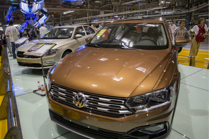 Volkswagen's joint venture with Anhui Jianghuai Automobile will have to market electric vehicles under new, wholly owned marques, rather than any of the German carmaker's existing brands. Photo: Visual China