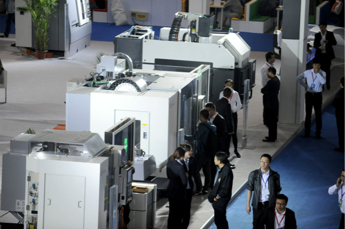 Shenyang Machine, one of many unprofitable state-run manufacturers in China, has spun off many of its least viable units. It is now focusing on its most promising core line of 5i smart machines (pictured). Photo: Visual China