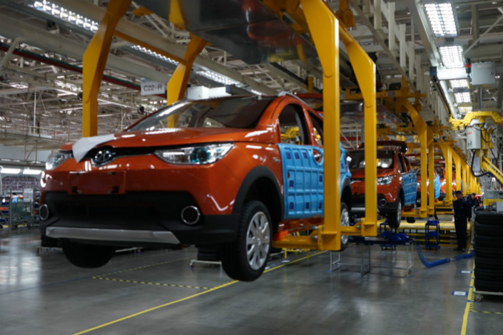 BAIC Group's new-energy vehicle arm, which has a manufacturing base (pictured) in Qingdao, Shandong province, sold 777,000 new-energy vehicles in 2017, or around 13% of the total sold in China.