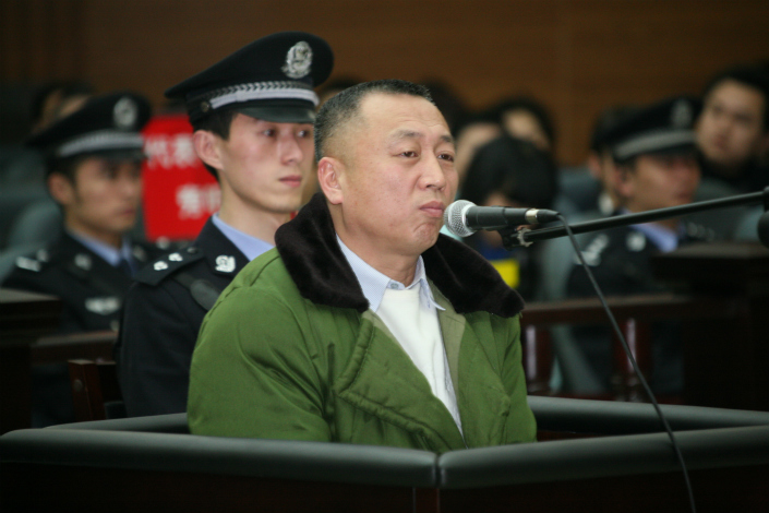 Veteran Beijing lawyer Li Zhuang stands trial in Chongqing in February 2010 on charges of falsifying evidence. Yao Ning was the prosecutor at this trial, however it was later discovered that allegations of soliciting a sex worker she made against Li were untrue. Photo: Visual China