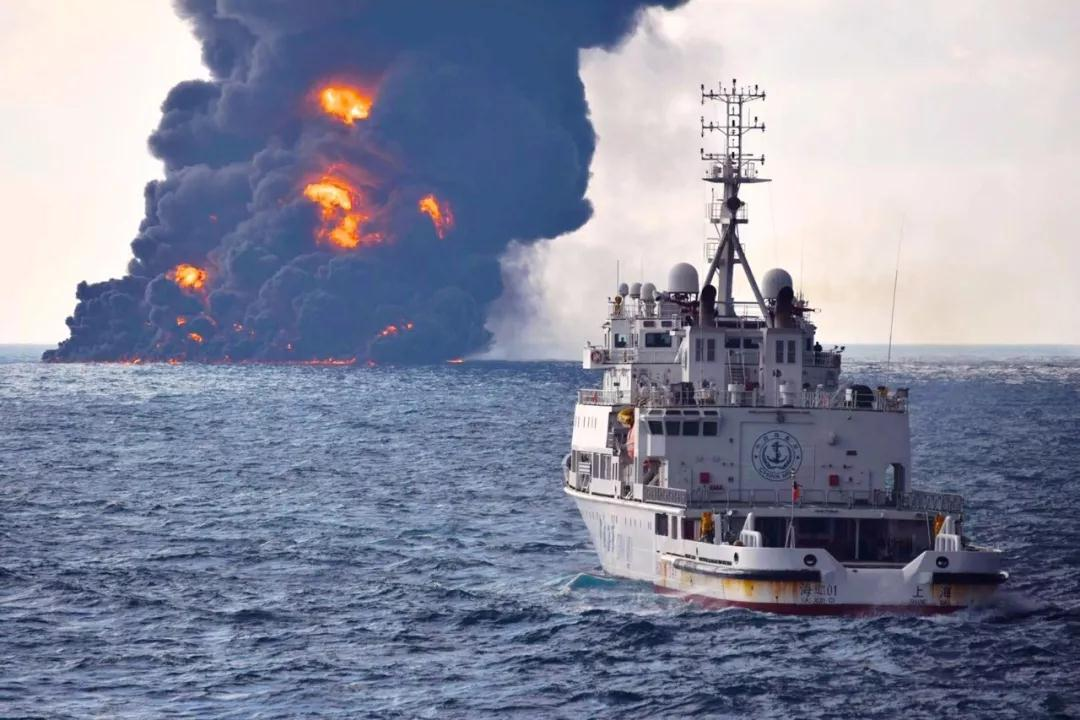 Burning Iranian Tanker Sinks off China's Coast