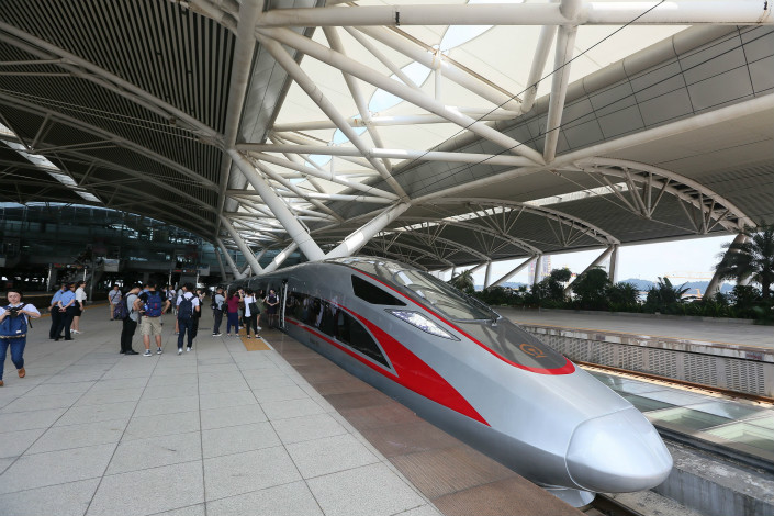 A one-way trip from Hong Kong to the Shenzhen Futian Railway Station will cost HK$80 ($10.23), despite a 2009 estimate that a ticket to Shenzhen on the the Guangzhou-Shenzhen-Hong Kong Express Rail Link would cost HK$45 to HK$48. Photo: Visual China
