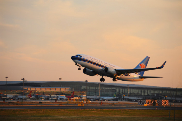 In China, which plans to relax restrictions on private investment in the airline industry, the state holds at least 50% of the assets in the country's three largest carriers, such as China Southern. Photo: Visual China