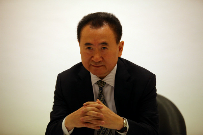 Wanda Group Chairman Wang Jianlin said the company had wanted to turn its Wanda Internet subsidiary into a large business, and that was a mistake. Photo: Visual China