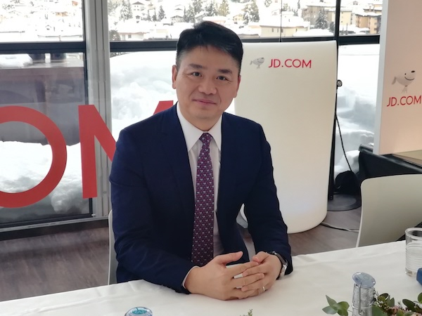 JD.com, China's No. 2 e-commerce company, is ramping up its global expansion. Above: JD.com Chief Executive Richard Liu, at the World Economic Forum in Davos. Photo: Yang Ge/Caixin