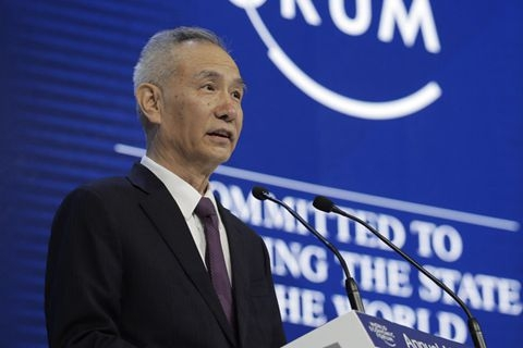 Liu He (above) told the Davos forum that China will implement further opening-up measures in banking, securities and the insurance sectors this year. Photo: IC