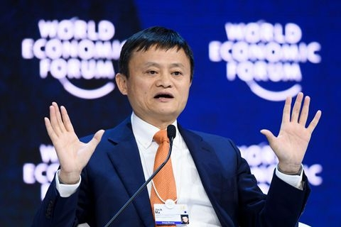 """It's easy to (start) a trade war, hard to stop it,"" Jack Ma, founder of Alibaba and one of China's richest men, said in Davos, Switzerland. Photo: Visual China"