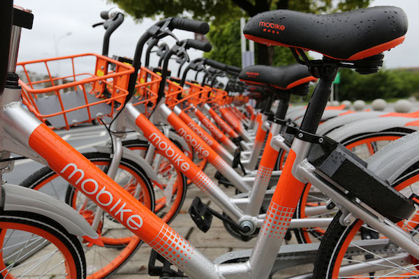 A plan to merge Mobike with archrival Ofo was shelved due to opposition from both sides' management teams. Photo: Visual China