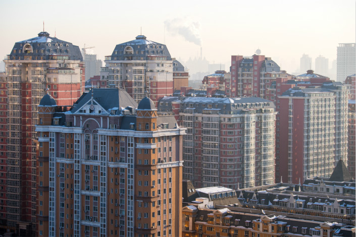Residential buildings are seen in Harbin, Heilongjiang province. Residential property sales in China grew 11.3% year-on-year to above 11 trillion yuan ($1.75 trillion) in 2017, as home sales measured by area sold grew 5.3%. Photo: VCG
