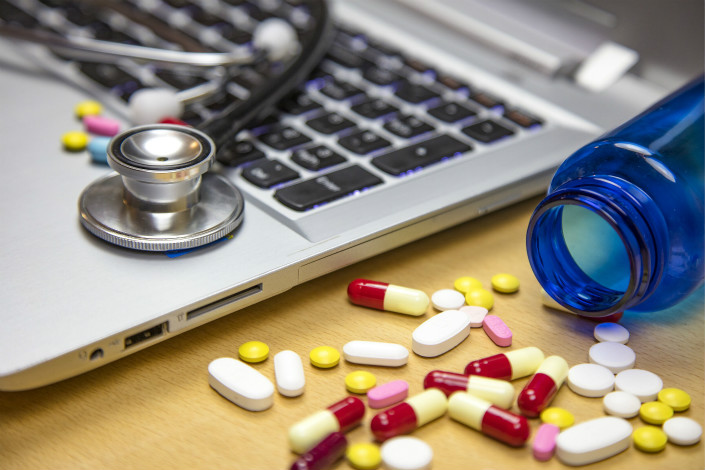 The new regulation comes as online drug transactions have surged in China in recent years. The trading volume increased nearly 88% year-on-year to 28.6 billion yuan ($4.5 billion) in 2016 and will reach 140 billion yuan by 2022, according to a consultancy. Photo: VCG