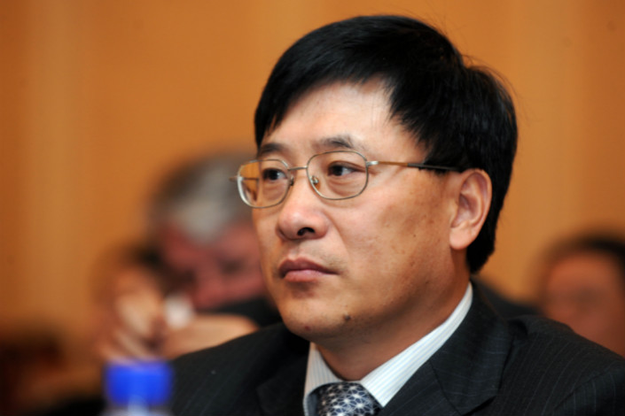 Nie Qingping, the original general manager of the China Securities Finance Corp., was later promoted to its president. His successor as general manager, Zhuang Mu, will be named chairman of the board of supervisors of the China Securities Depository and Clearing Corp. Photo: VCG
