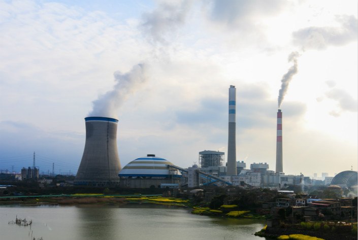 The China Guodian Corp. power plant in Jiujiang, Jiangxi province, is seen in March 2017. A new company will facilitate the transmission of electricity from Shanxi province to Jiangsu province. Photo: VCG