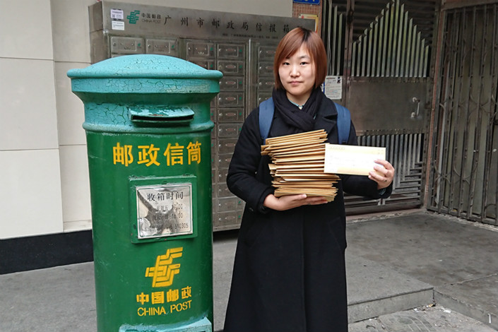 Zhan Yingying, 29, of Jilin province, wrote the 64 deputies of the National People's Congress who are from her home province to ask them to support introducing a national law that would allow unmarried women to freeze their eggs. Photo: Caixin