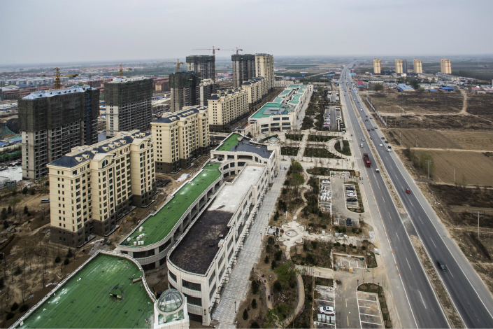 """The Xiongan New Area is seen in this April 3 photograph. The Politburo Central Committee said that """"significant progress"""" has been made in the drafting of the blueprint for the area, and a number of major infrastructure projects will be kicked off """"at proper times,"""" Photo: VCG"""