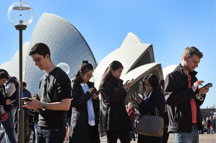 Australia's defense department is phasing out smartphones from Chinese brands Huawei and ZTE due to security concerns. Photo: VCG