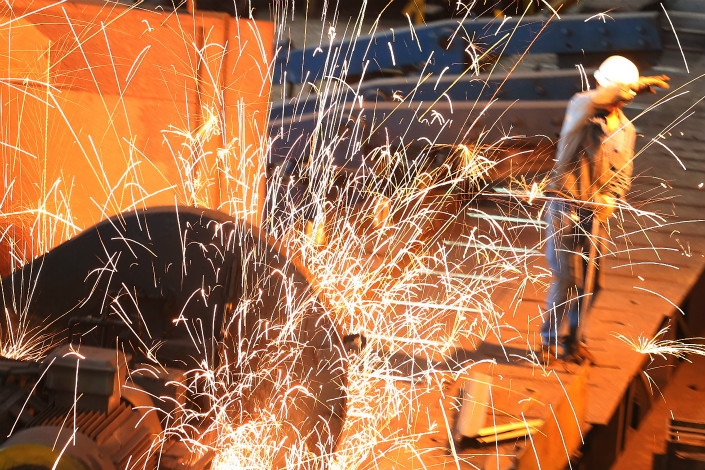 The government is cutting steel production capacity as part of a nationwide campaign to close excess and inefficient industrial capacity that had dragged down prices and corporate profitability, while exacerbating the country's pollution problems. Photo: VCG