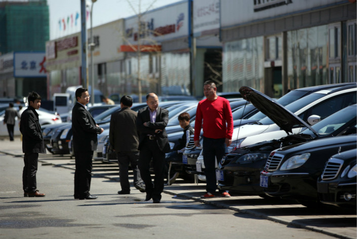 A used-car market is seen in Huaxiang township in Beijing in April 2017. Analysts said that China's plan to remove restrictions on intercity used-car transactions will be a challenge as regional governments are expected to resist the move. Photo: VCG
