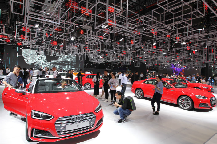 The Audi booth at last year's Guangzhou International Automobile Exhibition. Photo: IC
