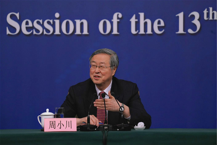 Zhou Xiaochuan, governor of the People's Bank of China. Photo: Liang Yingfei/Caixin